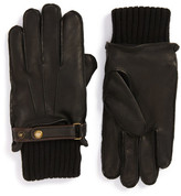 John W. Nordstrom Knit Cuff Leather Gloves
