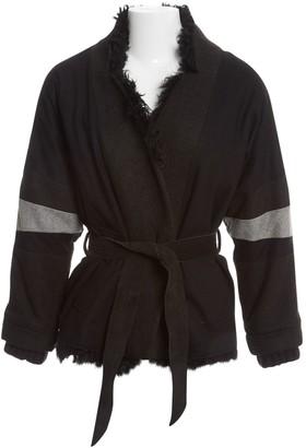 April May Black Mongolian Lamb Coat for Women