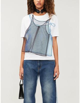 QUETSCHE Mesh-embroidered 'hidden' T-shirt