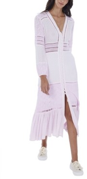 Allison New York Women's Lace Paneled Maxi Dress