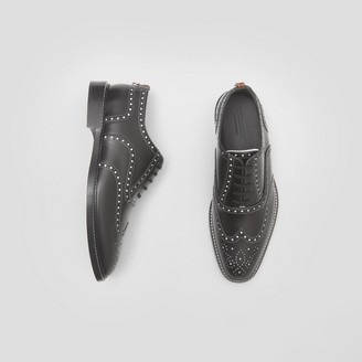 Burberry D-ring Detail Two-tone Leather Oxford Brogues