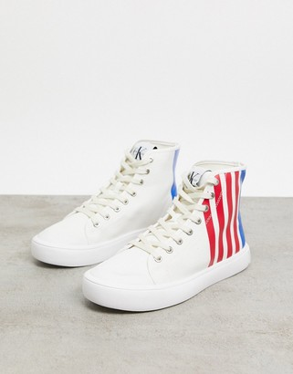 Calvin Klein Jeans Doran canvas high top sneakers