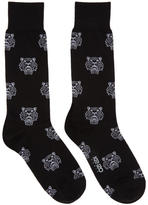 Kenzo Black Multi Tiger Socks