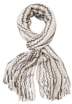 Missoni Intarsia Long Scarf with Fringes