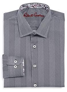 Robert Graham Boys' Yardley Striped Dress Shirt - Big Kid