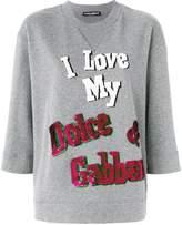 Dolce & Gabbana I Love My sequin sweater