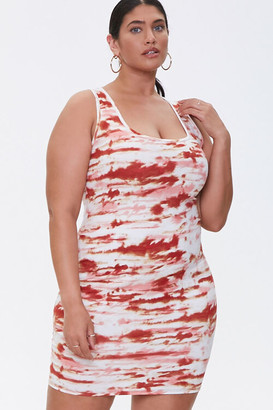 Forever 21 Plus Size Abstract Print Dress