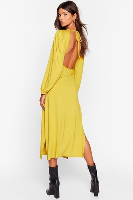 Nasty Gal Womens Don't Look Back in Anger Relaxed Maxi Dress - Metallics - 12