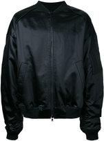 Juun.J slogan back bomber jacket - men - Cotton/Polyester/Acetate - 46