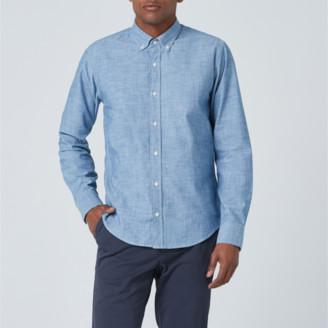 DSTLD Lightweight Chambray Button Down Shirt in Light Blue