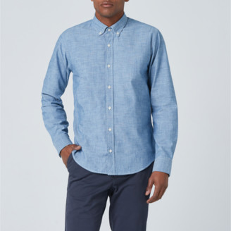 DSTLD Lightweight Chambray Button Down Shirt in Light Blue