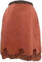 Rochas Orange Wool Skirts