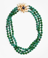 Brooks Brothers Three-Strand Floral-Clasp Necklace