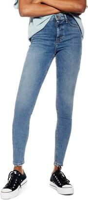Topshop Jamie Fray Hem High Waist Skinny Jeans