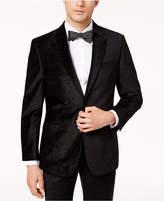 Tommy Hilfiger Men's Slim-Fit Black Paisley Velvet Dinner Jacket