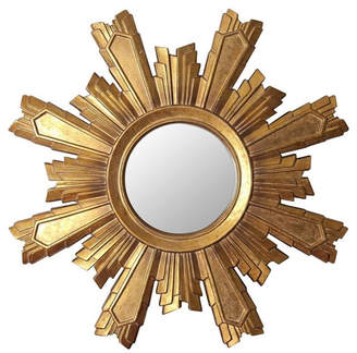 Abbyson Living Mikah Gold Sunburst Wall Mirror
