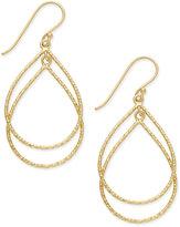 Giani Bernini Double Teardrop Drop Earrings in 18k Gold-Plated Sterling Silver, Only at Macy's