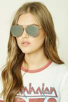 Forever 21 Cutout Aviator Sunglasses