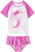 Crazy 8 Violet Mermaid Rashguard & Bikini Bottoms - Infant & Toddler