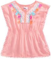 Epic Threads Little Girls Crochet-Trim Caftan Top, Created for Macy's