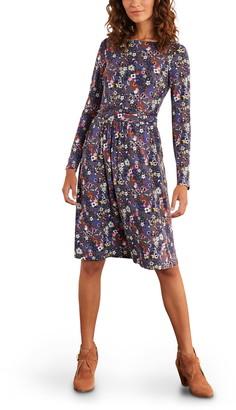 Boden Abigail Long Sleeve Jersey Dress