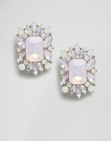 Asos Square Jewel Stud Earrings