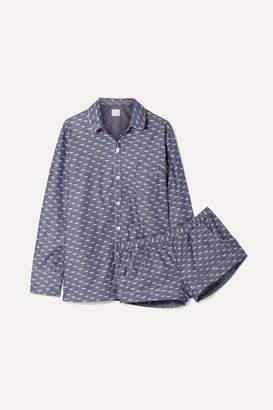 Three J NYC Emily Cotton-jacquard Pajama Set - Blue