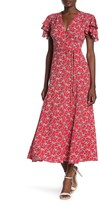 French Connection Cersier Floral Print Midi Dress