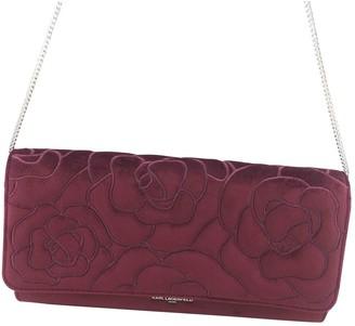Karl Lagerfeld Paris Burgundy Velvet Clutch bags