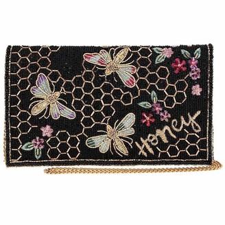 Mary Frances Honey Bee Beaded Crossbody Clutch Handbag