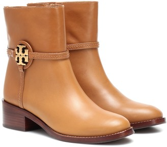 Tory Burch Miller leather ankle boots