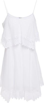 Charo Ruiz Ibiza Layered Crocheted Lace-trimmed Cotton-blend Voile Mini Dress