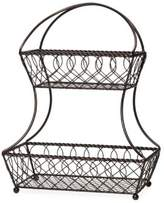 Mikasa Two-Tier Lattice Wrought-Iront Flatback Basket