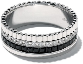 Boucheron 18kt white gold Diamond Quatre Black small ring