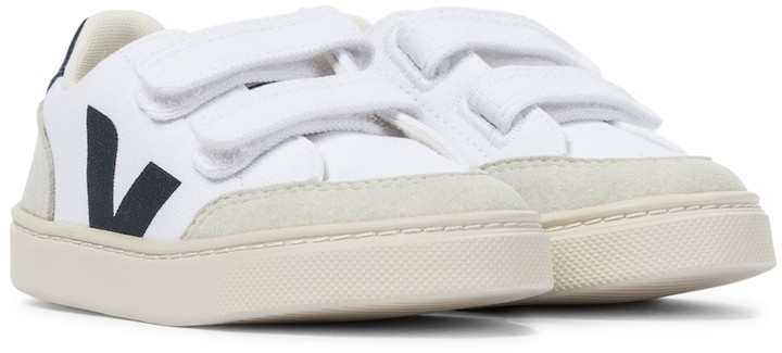 VEJA KIDS V-12 canvas and faux suede sneakers
