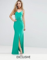 Club L Cami Maxi Dress with Knot Front