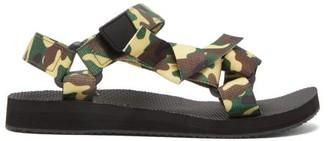 Arizona Love Trekky Camouflage Velcro-strap Sandals - Green