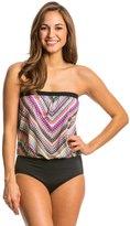 Jantzen Ethnic Chevron Blouson One Piece Swimsuit 8138523