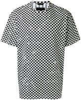 Marc Jacobs distressed check print T-shirt - men - Cotton - S