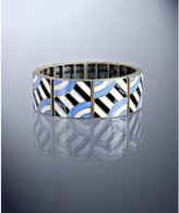 'Margherita' blue enamel square stretch bracelet