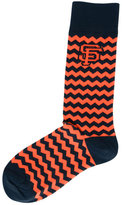 For Bare Feet San Francisco Giants Chevron Striped Socks