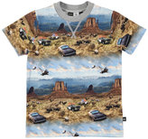 Molo Ralphie Prairie Chase Jersey Tee, Blue/Multicolor, Size 4-12