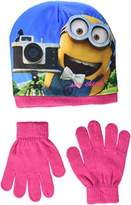 Universal Girl's Minion Smile Hat and Glove Set