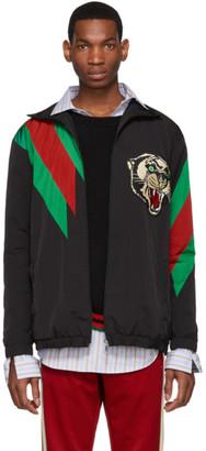 Gucci Black Oversized Panther Jacket