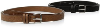 Relics Women's Plus-size Plus-size Emboss 2-for-1 Belt - Black/brown