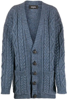 DSQUARED2 Oversized Chunky Knitted Cardigan
