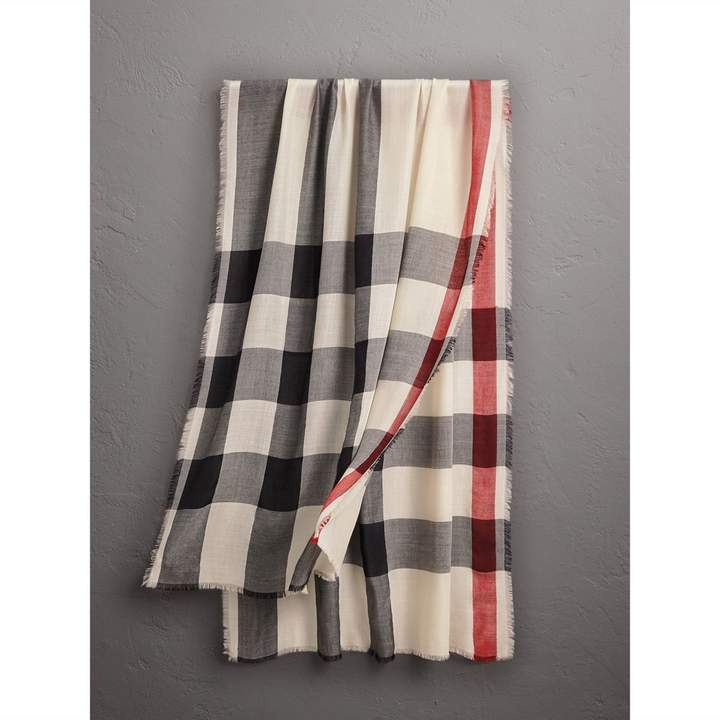 Burberry Lightweight Check Cashmere Scarf