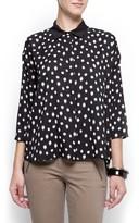 MANGO Polka-dots shirt