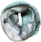 Alva-Norge Guns Turquoise Wool & Cashmere Scarf