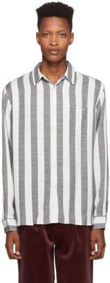 Saturdays NYC Black and White Jumbo Stripe Perry Shirt